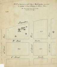 12 Peter 13th St 1870x Washington DC Block Map - Old Map Reprint