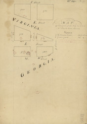 15 Prout Georga & Virginia 1796 Washington DC Block Map - Old Map Reprint