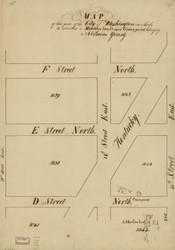 16 Young Kentucky Ave 1796 Washington DC Block Map - Old Map Reprint
