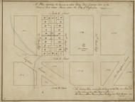 17 Peter Virgina Ave 1796 Washington DC Block Map - Old Map Reprint