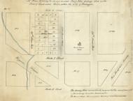 17 Peter Virgina Ave 1870x Washington DC Block Map - Old Map Reprint