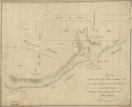 18 Wheler Virginia Ave 1796 Washington DC Block Map - Old Map Reprint