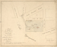 19 Carroll North Carolina Ave 1796 Washington DC Block Map - Old Map Reprint