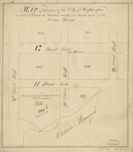31 Young H St 1796 Washington DC Block Map - Old Map Reprint