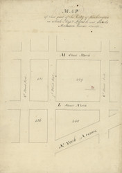 32 Lynch 6th St W 1796 Washington DC Block Map - Old Map Reprint