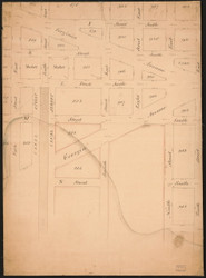 34 Southern Washington Navy Yard 1790x Washington DC Block Map - Old Map Reprint