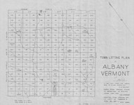 Albany Lotting Vermont Town VT State Archives