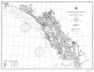 Dixon Entrance to Cape St Elias 1880 Nautical Chart 1,200,000 Scale  Alaska Chart 8000