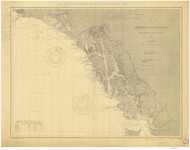 Dixon Entrance to Cape St Elias 1904 Nautical Chart 1,200,000 Scale  Alaska Chart 8000