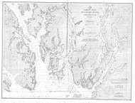 Revillagigedo Channel and Portland Canal 1893 Nautical Chart 200,000 Scale  Alaska Chart 8100