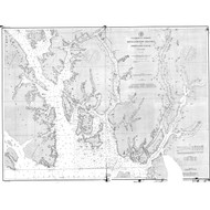 Revillagigedo Channel and Portland Canal 1894 Nautical Chart 200,000 Scale  Alaska Chart 8100