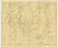 Revillagigedo Channel and Portland Canal 1904 Nautical Chart 200,000 Scale  Alaska Chart 8100