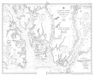 Revillagigedo Channel and Portland Canal 1906 Nautical Chart 200,000 Scale  Alaska Chart 8100