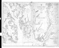 Revillagigedo Channel and Portland Canal 1910 Nautical Chart 200,000 Scale  Alaska Chart 8100