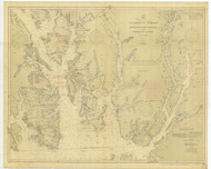 Revillagigedo Channel and Portland Canal 1913 Nautical Chart 200,000 Scale  Alaska Chart 8100