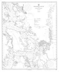 Frederick Sound and Sumner Strait 1920 Nautical Chart 200,000 Scale  Alaska Chart 8200