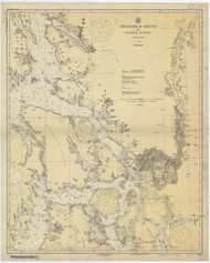 Frederick Sound and Sumner Strait 1923 Nautical Chart 200,000 Scale  Alaska Chart 8200