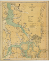 Frederick Sound and Sumner Strait 1924 Nautical Chart 200,000 Scale  Alaska Chart 8200