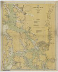 Frederick Sound and Sumner Strait 1931 Nautical Chart 200,000 Scale  Alaska Chart 8200