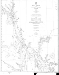 Lynn Canal and Stephens Passage 1895 Nautical Chart 200,000 Scale  Alaska Chart 8300