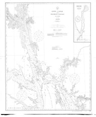 Lynn Canal and Stephens Passage 1914 Nautical Chart 200,000 Scale  Alaska Chart 8300