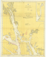 Lynn Canal and Stephens Passage 1918 Nautical Chart 200,000 Scale  Alaska Chart 8300