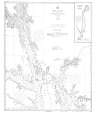 Lynn Canal and Stephens Passage 1919 08 Nautical Chart 200,000 Scale  Alaska Chart 8300