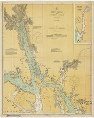 Lynn Canal and Stephens Passage 1925 Nautical Chart 200,000 Scale  Alaska Chart 8300