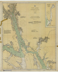 Lynn Canal and Stephens Passage 1926 Nautical Chart 200,000 Scale  Alaska Chart 8300