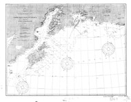 Icy Cape to Semidi Islands 3 1899 Nautical Chart 1,200,000 Scale  Alaska Chart 8500