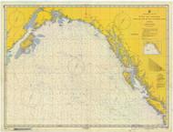 Strait of Juan De Fuca to Kodiak Island 1957 Nautical Chart 2,100,000 Scale  Alaska Chart 8500