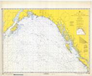 Strait of Juan De Fuca to Kodiak Island 1969 Nautical Chart 2,100,000 Scale  Alaska Chart 8500