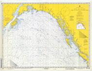 Strait of Juan De Fuca to Kodiak Island 1971 Nautical Chart 2,100,000 Scale  Alaska Chart 8500