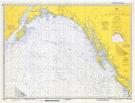 Strait of Juan De Fuca to Kodiak Island 1973 Nautical Chart 2,100,000 Scale  Alaska Chart 8500