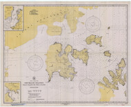 Shumagin Islands, Nagai Island to Unga Island 1939 Nautical Chart 100,000 Scale  Alaska Chart 8700