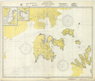 Shumagin Islands, Nagai Island to Unga Island 1943 Nautical Chart 100,000 Scale  Alaska Chart 8700