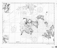Shumagin Islands, Nagai Island to Unga Island 1921 Nautical Chart 100,000 Scale  Alaska Chart 8700