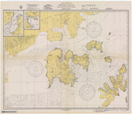 Shumagin Islands, Nagai Island to Unga Island 1944 Nautical Chart 100,000 Scale  Alaska Chart 8700