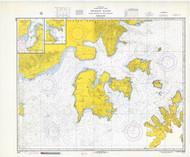 Shumagin Islands, Nagai Island to Unga Island 1969 Nautical Chart 100,000 Scale  Alaska Chart 8700