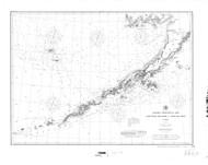 Alaska Peninsula and Aleutian Islands 1896 Nautical Chart 1,200,000 Scale  Alaska Chart 8800