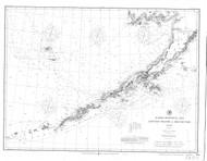 Alaska Peninsula and Aleutian Islands 1897 Nautical Chart 1,200,000 Scale  Alaska Chart 8800