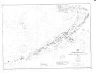 Alaska Peninsula and Aleutian Islands 1902 Nautical Chart 1,200,000 Scale  Alaska Chart 8800