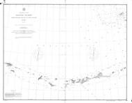 Aleutian Islands from Yunaska Island to Attu Island 1894 Nautical Chart 1,200,000 Scale  Alaska Chart 9100