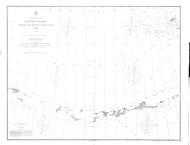 Aleutian Islands from Yunaska Island to Attu Island 1896 Nautical Chart 1,200,000 Scale  Alaska Chart 9100