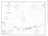 Aleutian Islands from Yunaska Island to Attu Island 1902 Nautical Chart 1,200,000 Scale  Alaska Chart 9100