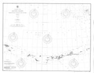 Aleutian Islands from Yunaska Island to Attu Island 1904 Nautical Chart 1,200,000 Scale  Alaska Chart 9100