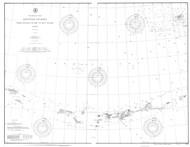 Aleutian Islands from Yunaska Island to Attu Island 1906 Nautical Chart 1,200,000 Scale  Alaska Chart 9100