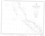Cape Flattery to Dixon Entrance 1868 Nautical Chart 1,200,000 Scale  Alaska Sailing Chart 700
