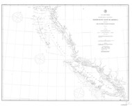 Cape Flattery to Dixon Entrance 1880 Nautical Chart 1,200,000 Scale  Alaska Sailing Chart 700