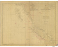 Cape Flattery to Dixon Entrance 1886 Nautical Chart 1,200,000 Scale  Alaska Sailing Chart 700